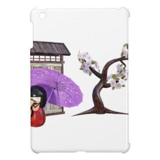 Sakura Doll with Wall and Cherry Tree iPad Mini Cover
