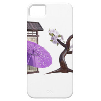 Sakura Doll with Wall and Cherry Tree iPhone 5 Cases