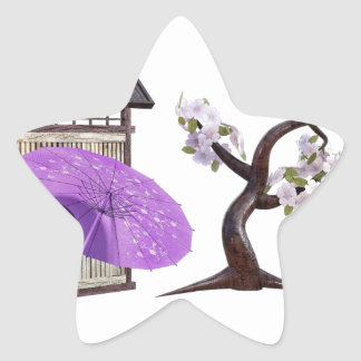 Sakura Doll with Wall and Cherry Tree Star Sticker