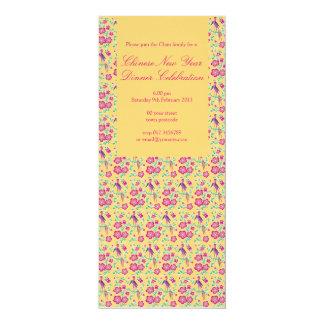 Sakura Floral Batik Chinese New Year Invitation 4
