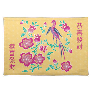Sakura Floral Batik Chinese New Year Placemat