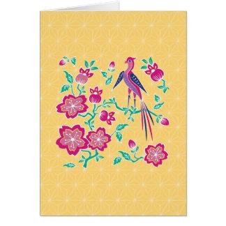 Sakura Floral Batik Note Card 2