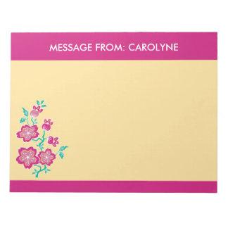 Sakura Floral Batik Notepad