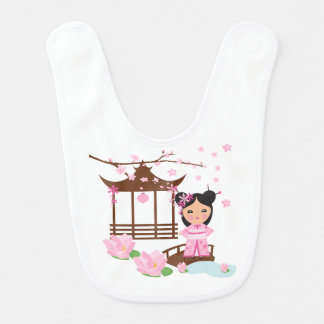 Sakura flower cherryblossom - Girl in Japan Bib