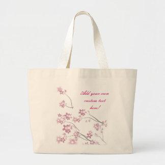 Sakura Flowers Large Tote Bag
