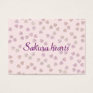 sakura hearts business card