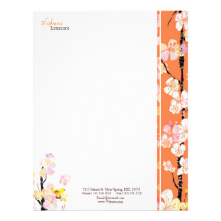 Sakura Home Interior Design Business Letterhead