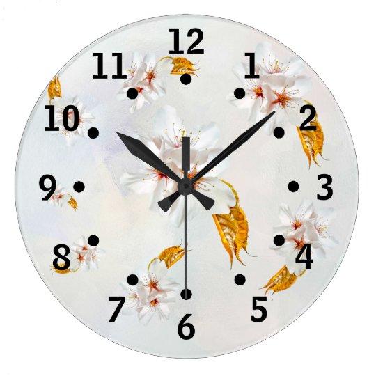 Sakura - Japanese cherry blossom Large Clock