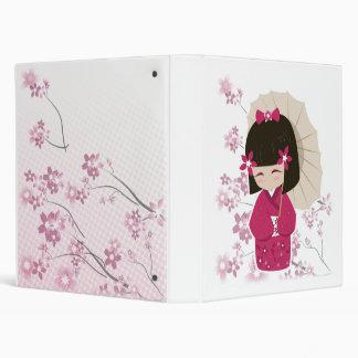 Sakura Kokeshi Doll Binders