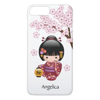 Sakura Kokeshi Doll - Cute Japanese Geisha Girl iPhone 7 Plus Case