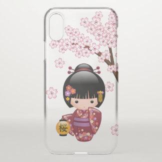 Sakura Kokeshi Doll - Geisha Girl iPhone X Case