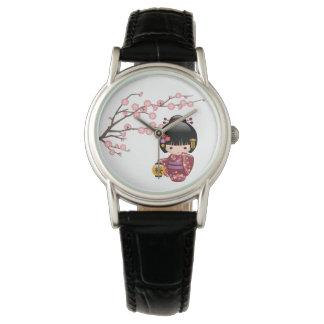 Sakura Kokeshi Doll - Japanese Geisha Girl Watch