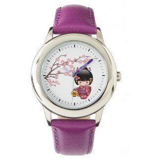 Sakura Kokeshi Doll - Japanese Geisha Girl Wrist Watch
