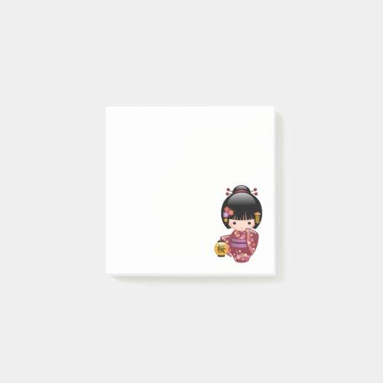 Sakura Kokeshi Doll - Kimono Geisha Girl Post-it Notes