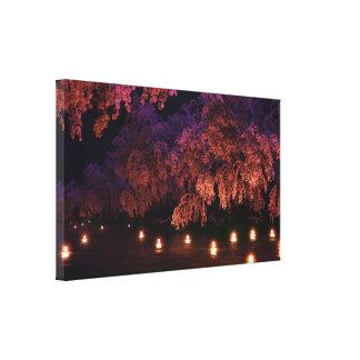 Sakura (Night) Canvas Print
