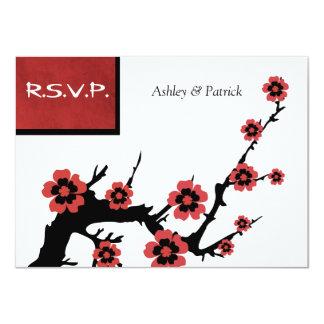 Sakura oriental RSVP Carton D'invitation 11,43 Cm X 15,87 Cm
