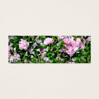 sakura petals mini business card