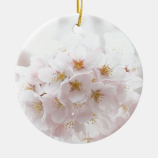 sakura round ceramic ornament
