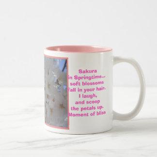 Sakura, Springtime Two-Tone Coffee Mug