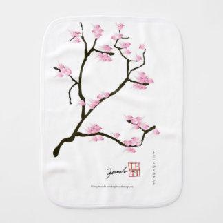 sakura tree and birds tony fernandes burp cloth
