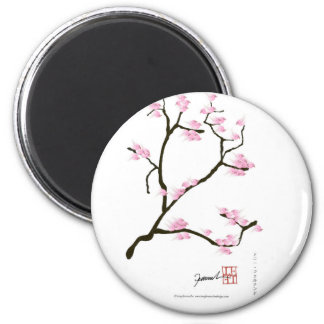 sakura tree and birds tony fernandes magnet