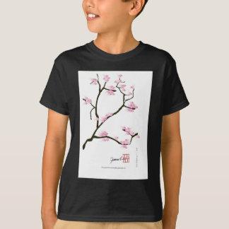 sakura tree and birds tony fernandes T-Shirt