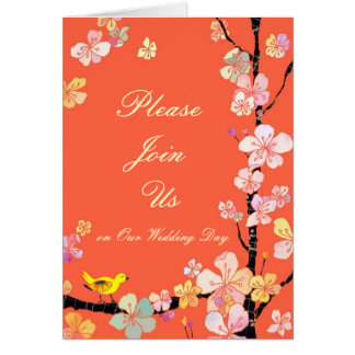 Sakura Wedding Invitation Card
