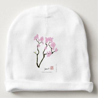 sakura with green bird, tony fernandes baby beanie