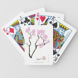 sakura with green bird, tony fernandes bicycle playing cards