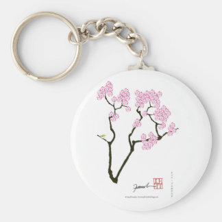 sakura with green bird, tony fernandes keychain