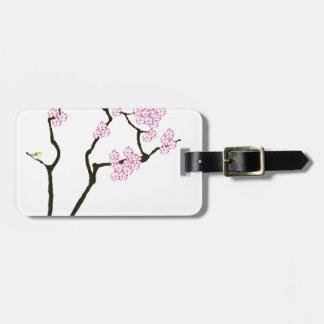 sakura with green bird, tony fernandes luggage tag