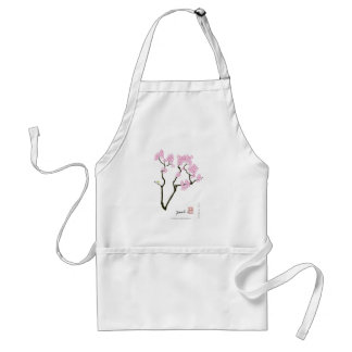 sakura with green bird, tony fernandes standard apron