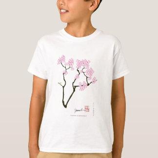 sakura with green bird, tony fernandes T-Shirt