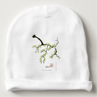 sakura with green birds, tony fernandes baby beanie