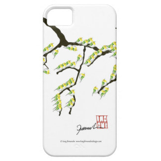 sakura with green birds, tony fernandes iPhone 5 case