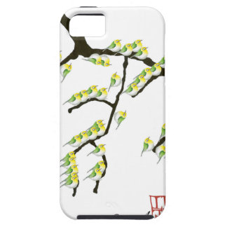 sakura with green birds, tony fernandes iPhone 5 covers