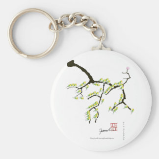 sakura with green birds, tony fernandes keychain