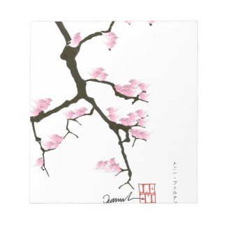 sakura with pink birds by tony fernandes notepad