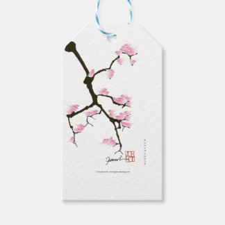 sakura with pink birds by tony fernandes pack of gift tags