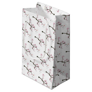sakura with pink birds by tony fernandes small gift bag