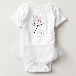 sakura with pink goldfish, tony fernandes baby bodysuit