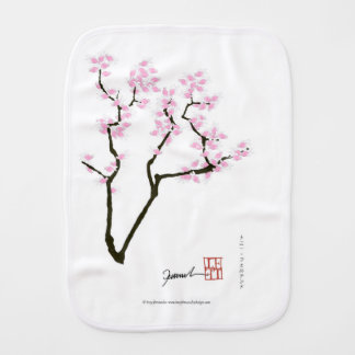 sakura with pink goldfish, tony fernandes burp cloth