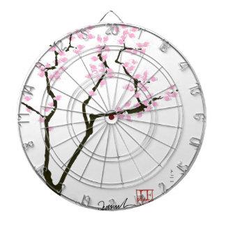 sakura with pink goldfish, tony fernandes dartboard