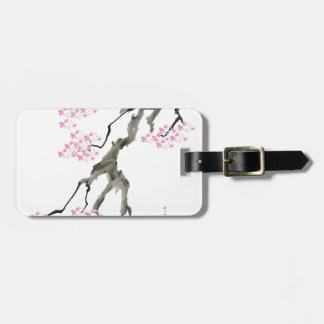 sakura with pink goldfish, tony fernandes luggage tag