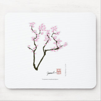 sakura with pink goldfish, tony fernandes mouse pad