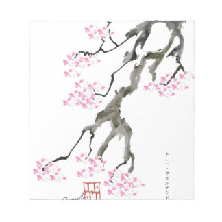 sakura with pink goldfish, tony fernandes notepad