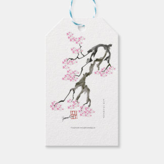 sakura with pink goldfish, tony fernandes pack of gift tags