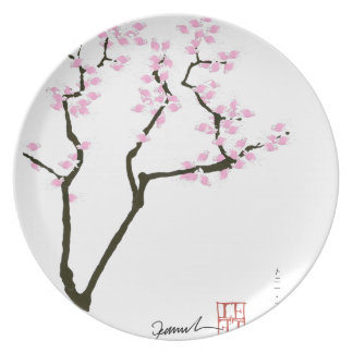 sakura with pink goldfish, tony fernandes plate
