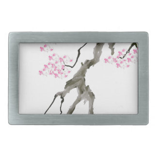 sakura with pink goldfish, tony fernandes rectangular belt buckle