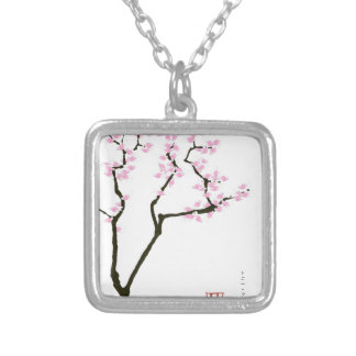sakura with pink goldfish, tony fernandes silver plated necklace